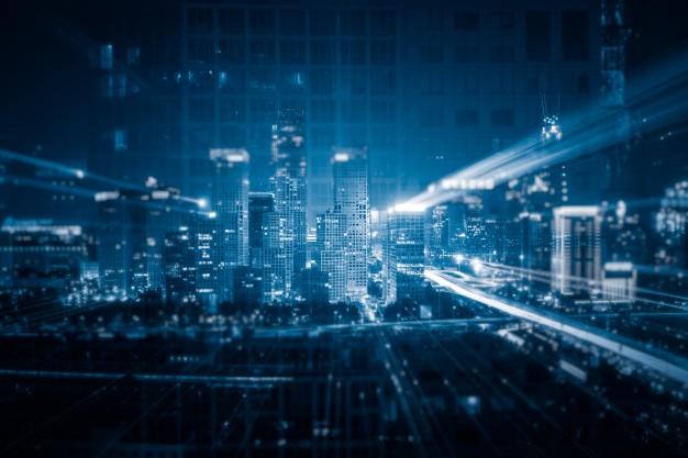Digital & financial city concept