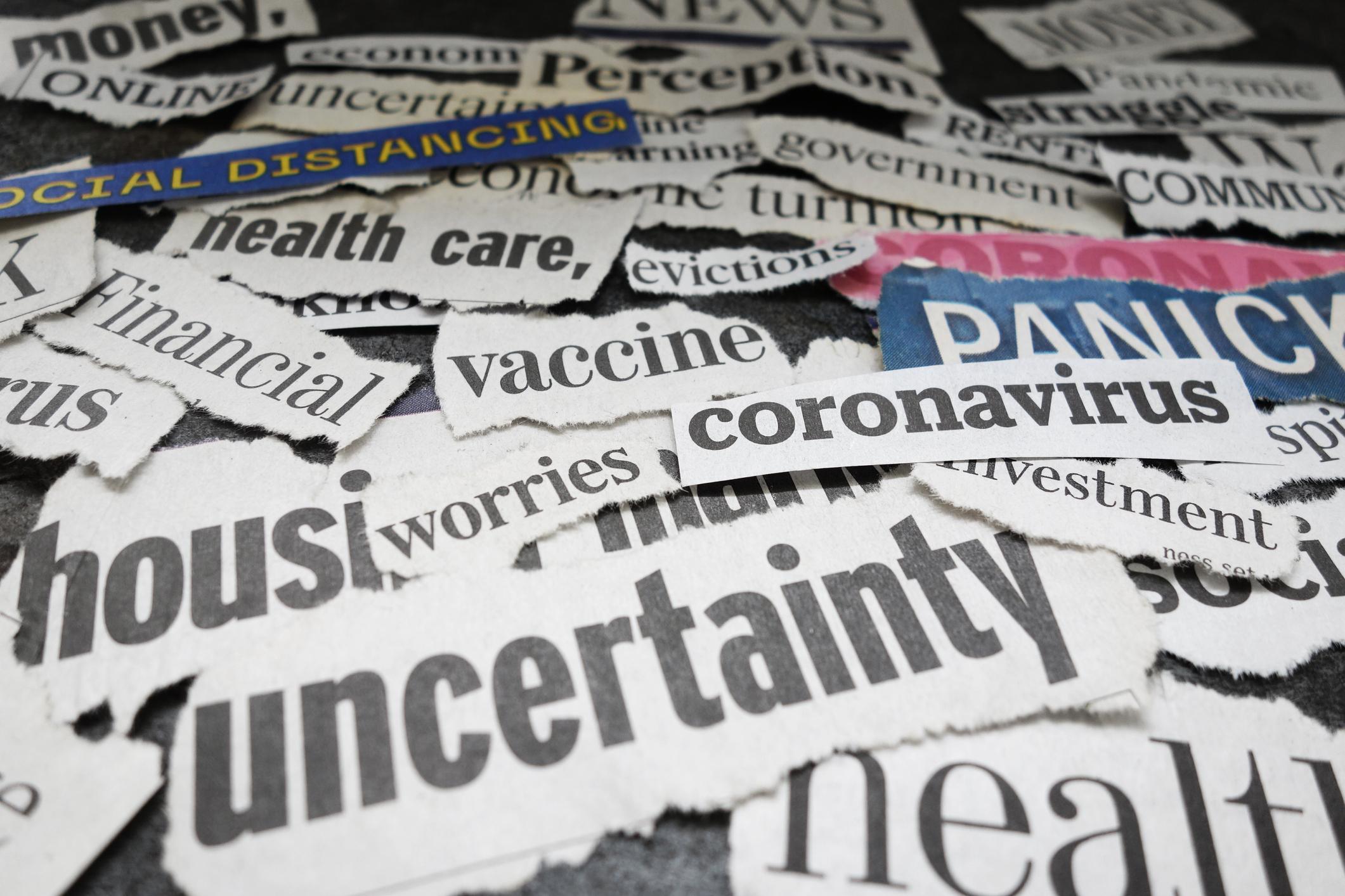 Coronavirus newspaper headlines