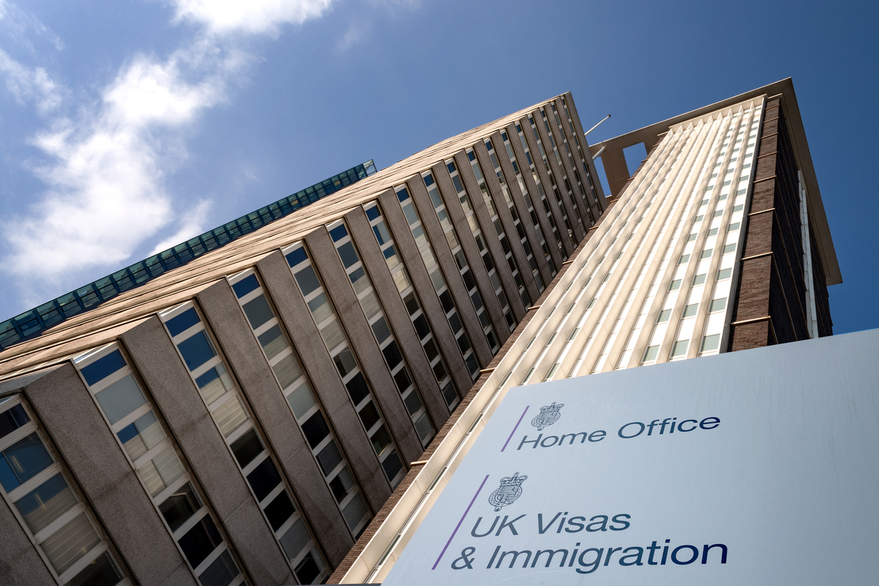 Outside shot of the UK Home Office / UK Visas and Immigration Building