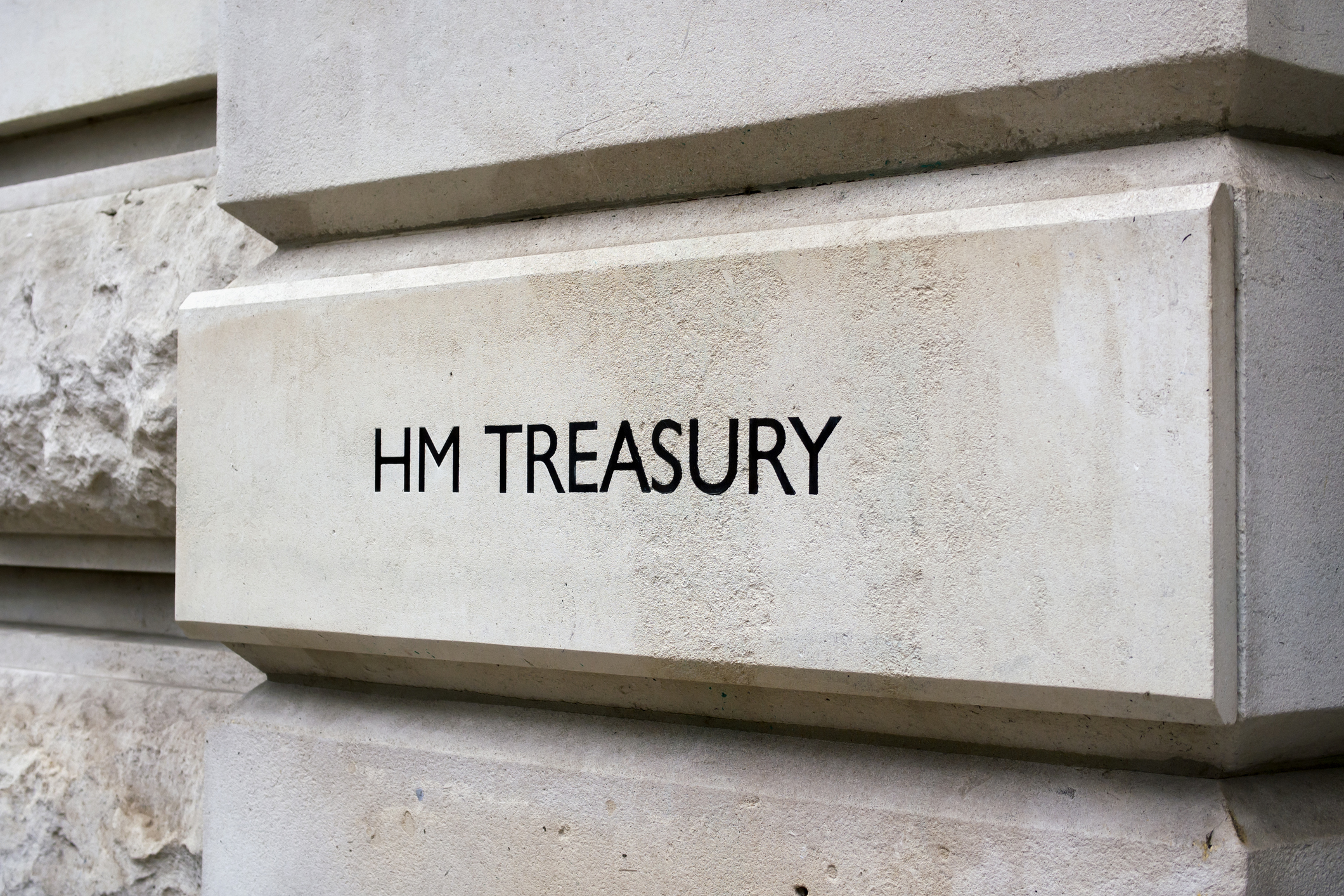 British Government Treasury sign