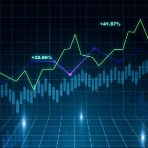 Growing financial chart