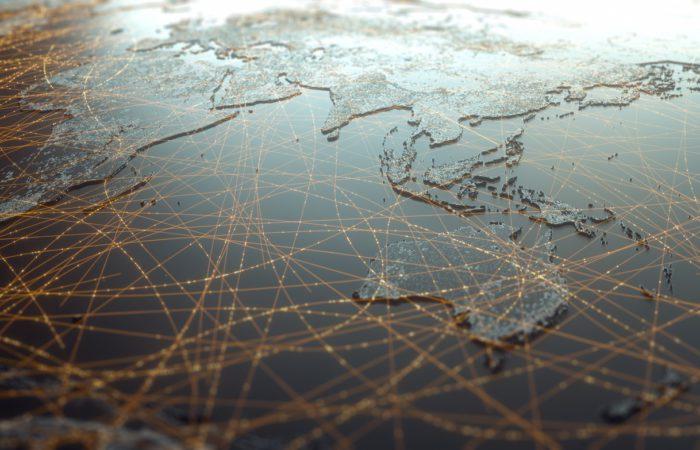 Map focusing on Asia & Oceania