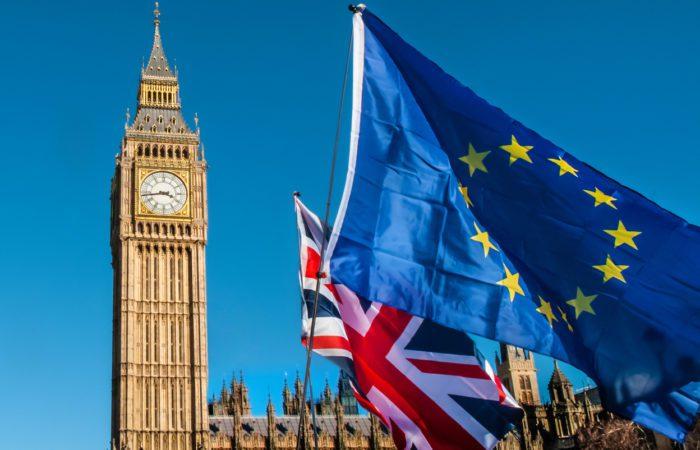 EU & UK flags in front of Big Ben
