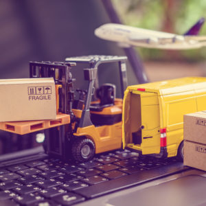 Logistics, supply chain and delivery service concept