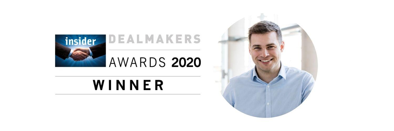 Tom Saunderson, Insider Wales Dealmakers Awards 2020 Winner